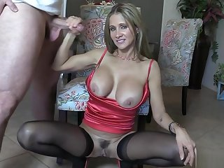 Incredible breasty latina experienced lady in handjob porn mistiness