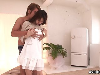 Asian cutie with a gradual cunt likes being specious with