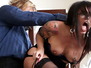 Ultra-Kinky office arse-istant tears up her mature supervisor