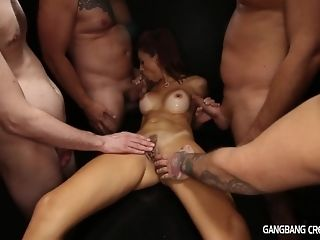 5 folks give ultra-kinky mummy internal cumshot gang-bang and several facials sex video