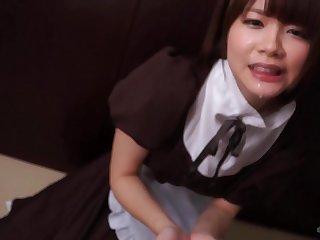 Immense Throbber Drools Font Go away from Kawaii Japanese Maid's Debouchure