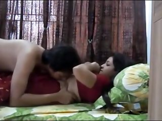 Indian duo having blistering orgy in their bedroom