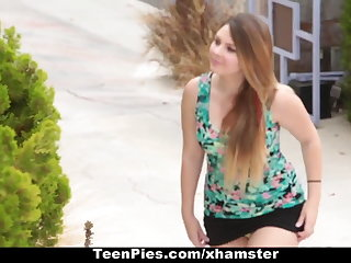 TeenPies - Creampied By The brush Best Friends Dad