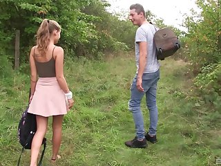 Outdoor reality cowgirl style dear one with blonde teen Tiffany Tatum