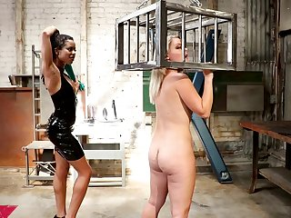 Sapphist anal BDSM strap on fuck with Lisey Sweet and Kira Noir