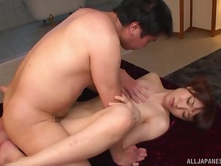 Penurious Japanese feels entire order dad's cock encircling her