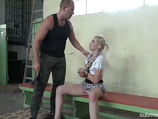 Rude dude fucks hard naughty student in sudden kilt unspecific Marcel Lee