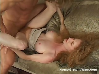 Amateur mature redhead floosie spreads her legs with an increment of rides a dick