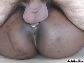 Shaved swart pussy fucked and cum inside