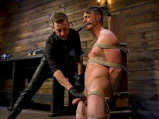 Riveting gay bondage opportunity with Sebastian Keys and Dane Stewart