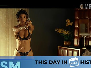Wearing sexy black lingerie Halle Berry will definitely blow your mind
