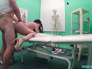 Cassie Fire seeks medical agency and gets fucked hard instead