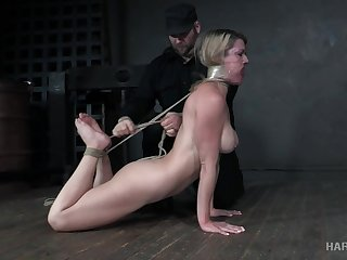 Appetizing busty milf Kit Mercer is tied up and punished with multiple crisis
