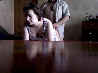 Man fucks the French neighbor on hidden cam