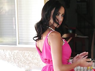 A dick in pussy added to a finger in butt makes desirable Breanne Benson cum