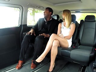 Bold Violette Pure gets it on with a black wean away from in the car