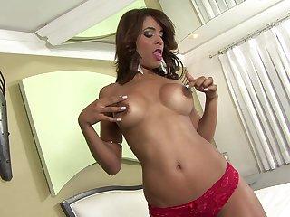 Hot ass ebony star Paola Felix drops her panties to hate fucked hard
