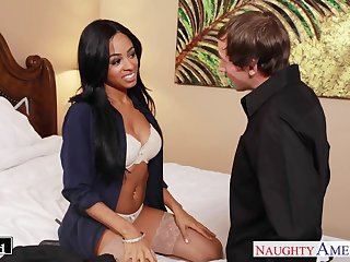 Busty naughty babe Anya Ivy desires to understand some sensual missionary