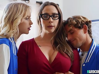 College couple pounding mommy professor