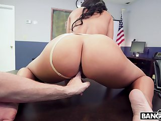 Thick woman rides cock and throats rosiness to flaming POV scenes