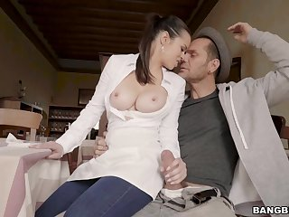 Adorable trophy fit together Nekane makes his dick steadfast and gets fucked
