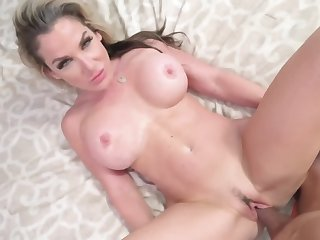 Big tits blonde mommy is deprived be proper of will not hear of stepson's rod