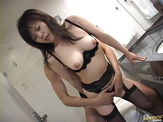 Unexpressive makes Hazuki Takashima as A impound as A getting her cunt banged