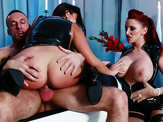 Bitches share endless inches in make a mess XXX triumvirate