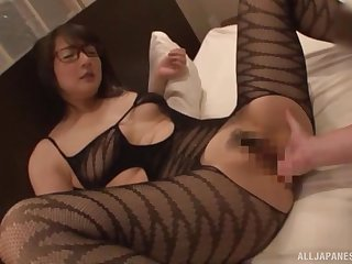 Japan MILF with sexy glasses, full homemade POV