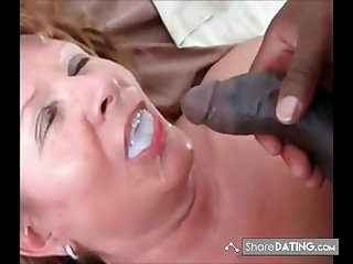 This Son swallows his load added to ask if he got more. Guess she is still stimulated for black cum.