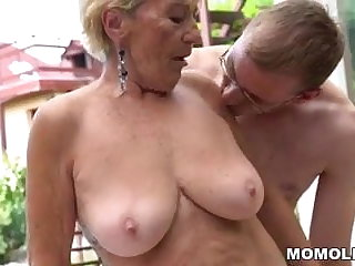 Granny hairy pussy beyond everything young dick